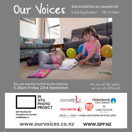 Our Voices Exhibition Invitation